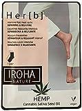 Iroha Nature - Calcetines Mascarilla para Pies Reparadores & Relajantes con Aceite de Semilla de Cannabis, 2 unidades para 1 uso (2x8gr.)   Calcetines Mascarilla Reparadora e Intensiva