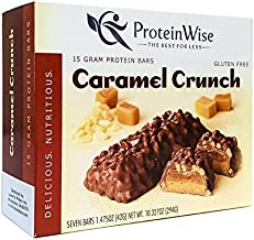 ProteinWise Healthy Diet Low Carb Low Calorie High Protein Bar (Caramel Crunch)