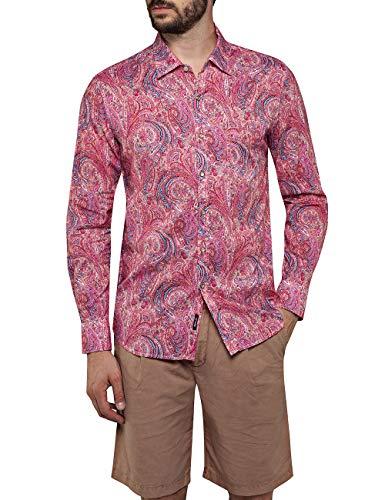 Replay Herren M4953W.000.71988 Freizeithemd, Mehrfarbig (Red/Pink Paisley 010), (Herstellergröße: XX-Large)
