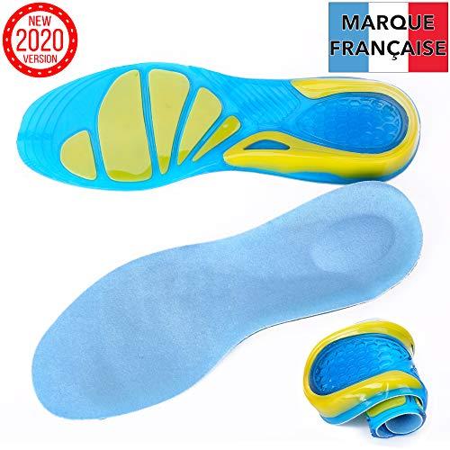 TAKIT Semelles Chaussures Gel - NOUVEAU 2020 - Une Paire - Soulage la douleur - Idéale pour le sport, la marche, la course à pied, la randonnée - 35-38