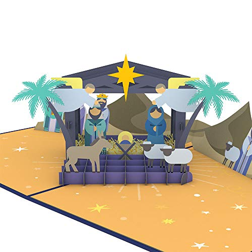 Lovepop Nativity Pop Up Card - 3D Card, Christmas Pop Up Card, christmas Cards, Holiday Cards, Religious Christmas Card, Merry Christmas Card
