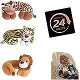 Kids Soft Travel Neck Pillow Kids Neck Support Pillows Lion,Tiger & Giraffe Design