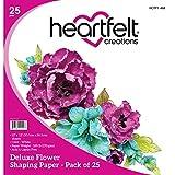 Heartfelt Creations Flower Shaping Paper 12'x12' 25/pkg-white