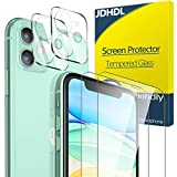 [4 pack] JDHDL iPhone 11 Screen Protector and Camera Lens Protector Tempered Glass, Case Friendly 9H Hardness No-Bubble HD Clear (iPhone 11(6.1 inch))