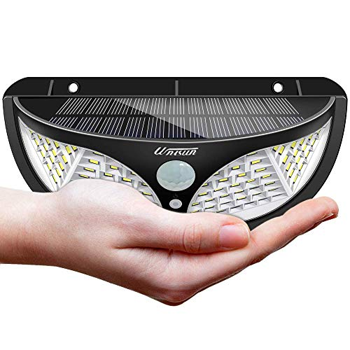 Lámpara solar para uso exterior, 98 LED lámpara solar exterior 270 ° Lámpara solar súper...