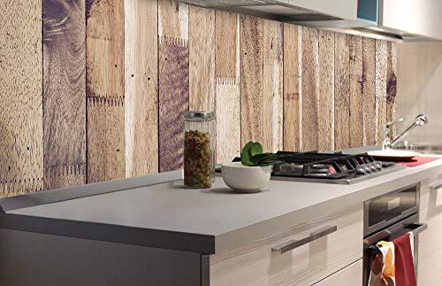 DIMEX LINE Sticker crédence - Cuisine Mur DE Bois 180 x 60 cm | Crédences adhésives