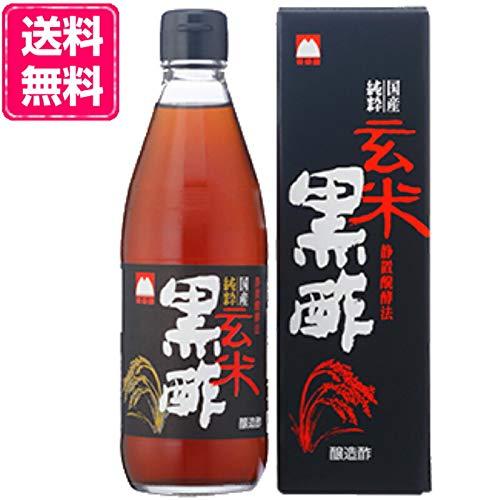 加藤美蜂園 国産 純粋 玄米黒酢 360ml 12本 (6本×2箱) 化粧箱入り