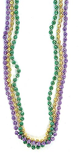 Rhode Island Novelty Mardi Gras Disco Ball Beads 1 Dozen