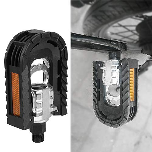 HCHD 2 Pedal PC Plegable for el Plegado de Bicicletas, Bicicletas de montaña BTT, Bicicleta de Carretera Bicicleta de Ciclo del cojinete de Bolas Pedales Negro 10 * 7.1 * 3 cm