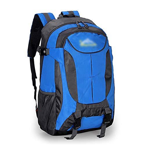 ZEVONDA Mochila Impermeable para Senderismo Mochila 40L - Mochila de Viaje Ultraligera de Gran Capacidad Unisex - para Escalada de Camping al Aire Libre, Azul