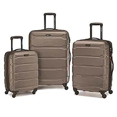 Samsonite 68311-1776 Omni PC Hardside Spinner  20 24 28,  Silver,  3 Piece Set