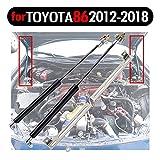 TSUBASA Amortiguador de capó de gas para Toy-ota 86 ZN6 GT86 FT86 para S-ubaru BRZ 2012-2021 Campana delantera Modificar Amortiguadores Levante Soporte Muelles de gas Kit Varillas Fibra de Carbono
