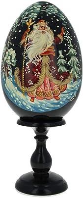 Amazon.com: Azul Haze Flores Ruso de madera pintado a mano ...