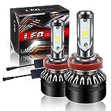 【最新モデル登場】LIMEY H8 H11 H16 LED ヘッドライト バイク/車用 車検対応 明るい 10000LM(5000LM*2) 60W(30W*2) 12V車対応(ハイブリッド車・EV車対応) ホワイト 6500K 放熱性抜群 静音ファン付き CSP社製ledチップ搭載 1年保証 日本語取説&保証書付 2個入