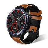 XFLnaraz Men Women LEM12 Smart Watch 500W+800W Dual Camera 4G Smart Watch Face Recognition Heart Rate 3GB 32GB 1.6 inch Recognition Big Screen Watch (Brown, OneSize)