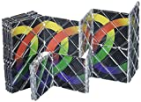 LingAo 20 Panels 9 Rings Ultra Magic Folding Twisty Puzzle Cube (20 Piece), Black
