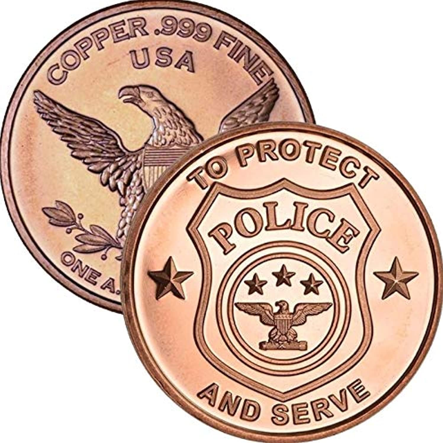 Jig Pro Shop Pledge of Allegiance United States of America 1 oz .999 Pure Copper Round Challenge Coin