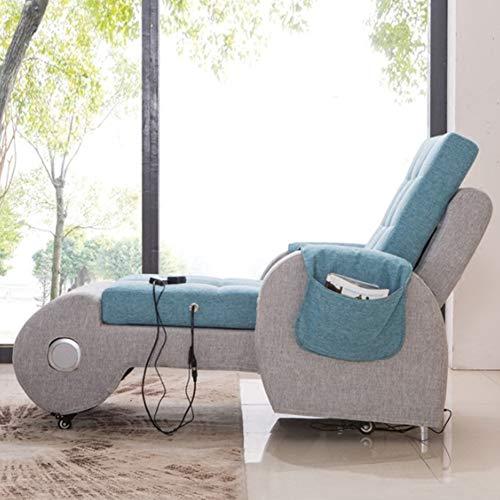 HYYQG - Sillón Cama Individual, salón, sofá Pigro, sillón con Respaldo Alto, Altavoz Bluetooth, MP3, Masaje de vibración, cojín de jardín para Exteriores, Asiento, Azul