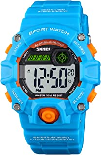 Hemobllo Kid Watch Waterproof Digital Time Sports Outdoor Wrist Watch for Girl Children Boy (Blue)