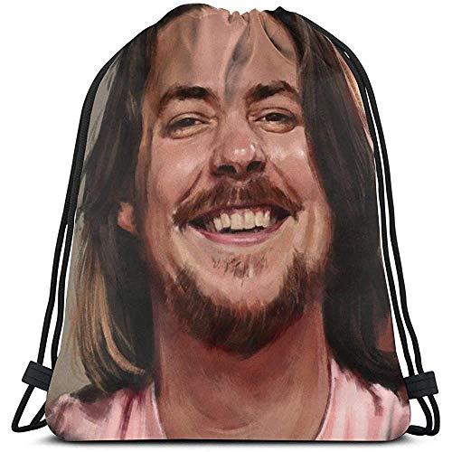 NotApplicable Cinch Bags Mochila con Cordón Arin Hanson Cinch Bags School Travel Casual Fitness Bag Sports Gift Print Laptop Universal