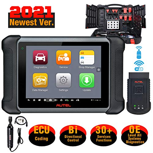 Autel MaxiSys MS906BT with MV108 Automotive Scan Tool, 2021 Newest Car Diagnostic Scanner, All Systems Diagnosis & 31 Services, ECU Coding, Bi-Directional Control, Active Test, Upgraded Ver. of MS906