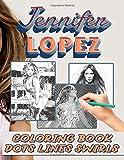Jennifer Lopez Dots Lines Swirls Coloring Book: An Adult Activity Diagonal Line, Swirls Book Jennifer Lopez True Gifts For Family