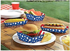 White Blue Assorted Patriotic Trays