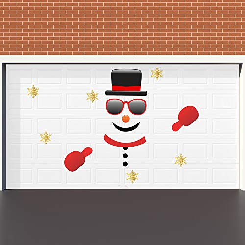 Rtudan Christmas Snowman Garage Door Decorations-Christmas Outdoor Garage Archway Car Party Decor Balcony Decorate Window Decoration for Christmas Supplies(Assembly Needed) (Snowman)