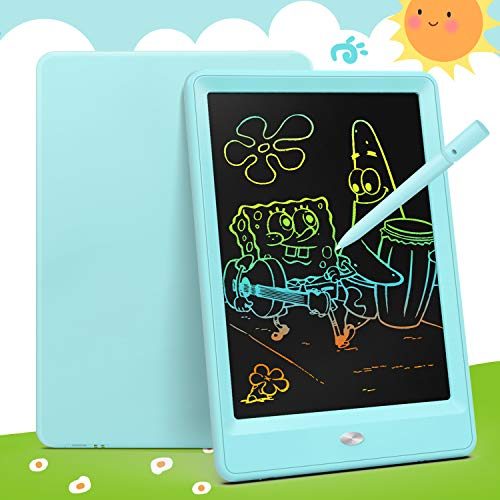 Bravokids Toys for 3-6 Years Old Girls Boys, LCD Writing Tablet 10 Inch Doodle Board, Electronic Drawing Tablet Drawing Pads, Educational Birthday Gift for 3 4 5 6 Years Old Boy and Girls (Blue)