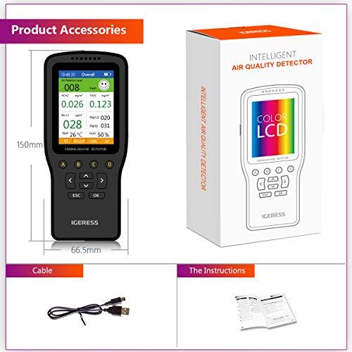 Monitor de calidad del aire, IGERESS medidor detector de contaminación aire...