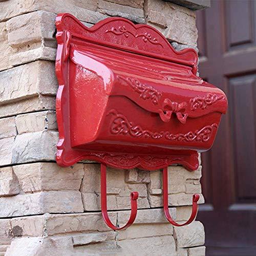 Rustikale Weinlese-Art-Pfosten-Mailbox Häuser Front Porch Wohnaußenstraßenrand Briefpost Box Wandeinbau (Color : C)
