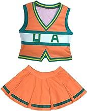miccostumes Women's BNHA Cheer Uniform UA Cheerleader Cosplay Outfit Asui Tsuyu Costume
