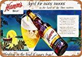 Boydf333o Tin Signs 1953 Hamm's Beer Moons Vintage Style