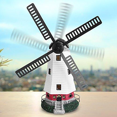 Solar LED, Windmühlen garten Ornament mit Licht, Garten Deko-Ornament Außenbeleuchtung Merkmal -