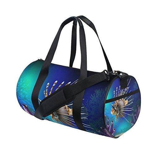 Ahomy Fish - Bolsa de Deporte para Gimnasio, diseño de Algas Marinas