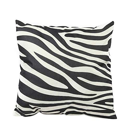 Aeromdale - Funda de cojín para sofá, cinturón, diseño de cebra