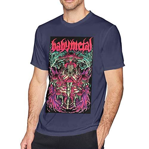 Babymetal T Shirt Navy M Men T-Shirt aus Baumwolle für Herren Kurzarm Männer Tshirt Rundhalsausschnitt