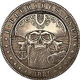1881 cráneo capitán AB recuerdos monedas coleccionables antiguo...