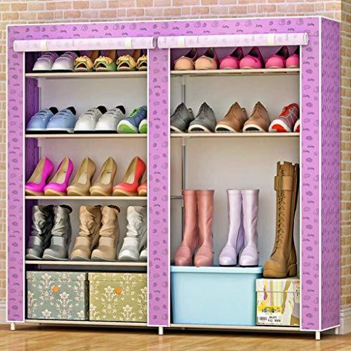 BaiJaC Estante de Zapatos, Gabinete de Zapatos a Prueba de Polvo 5 Gabinete de Zapatos para Zapatos para 30 Pares de Zapatos Organizador de Almacenamiento de pie, 120 x 30 x 89cm