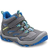 Merrell Kids' Unisex M-Chameleon 7 Access Mid A/C Wtrpf Hiking Shoe, Grey/Blue, 13 Medium US Little Kid