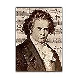 Gerahmt Beethoven Portrait Poster Wohnkultur Beethoven Bild