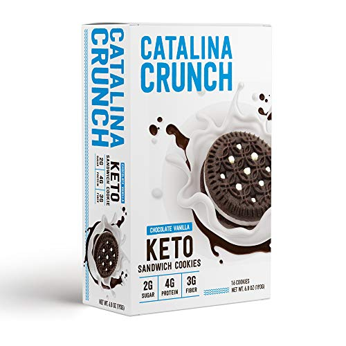 Catalina Crunch Keto Sandwich Cookies: Keto Cookies, Keto Snacks, Low Carb Snacks with Plant Protein and Prebiotic Fiber