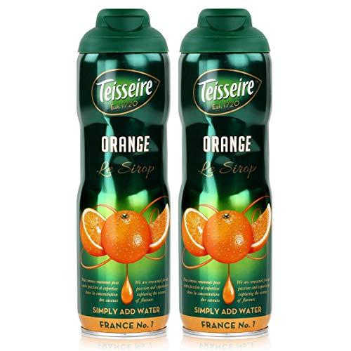 Teisseire Getränke-Sirup Orange 600ml - Sirup der genauso schmeckt wie die Frucht (2er Pack)