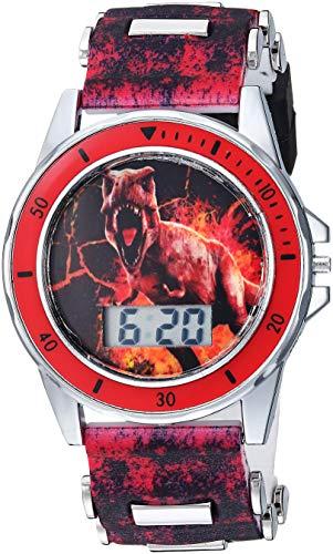 Jurassic Park Quartz Watch with Plastic Strap, Black, 20.7 (Model: JRW4026)