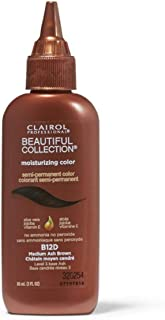 Clairol Professional Beautiful Collection Semi-permanent Hair Color, Medium Ash Brown B12D, 3 oz (Pack of 4)
