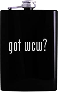 got wcw? - 8oz Hip Alcohol Drinking Flask, Black