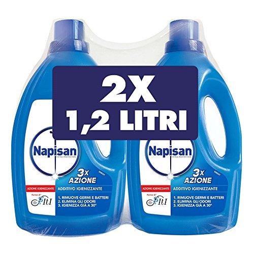 Napisan Additivo Igienizzante Liquido per Bucato, 1.2 Litri, Confezione da 2