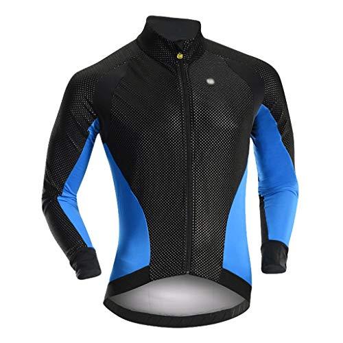 Jersey de ciclismo Hombres ciclismo Jersey Traje completo Jersey de la bicicleta la ropa del otoño y chaqueta de invierno Fleece ciclismo Jersey de manga larga superior a prueba de viento de bicicleta