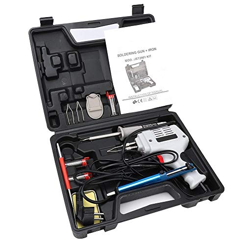 Lötpistole, 100W 250V Schnellheiz Elektronik Lötkolben Kit, Lötwerkzeuge mit Kupferkernlötdraht zum Schweißen von Leiterplatten, Reparatur von Haushaltsgeräten, Heimwerken