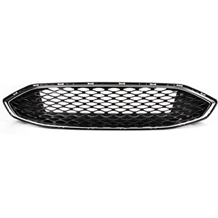 VRracing 1PCS Front Grill Honeycomb Trim Gloss Black Grille Honeycomb Mesh Grill Compatible For Ford Fusion 2017 2018